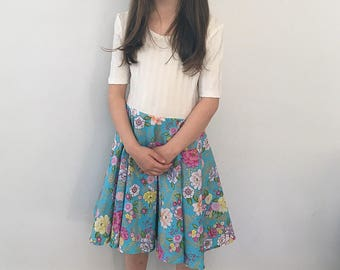 Size 8 Girls Floral with Gold Summer Dress
