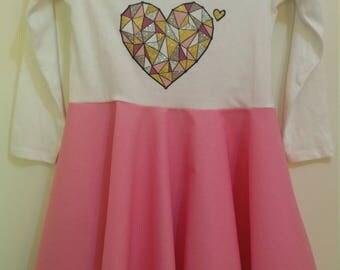 Size 6 L/S Heart Dress