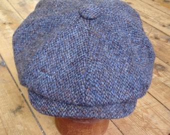 Mister Miller - JACOB - Harris Tweed Barleycorn - Indigo Blue - Peaky Blinders - Newsboy Bakerboy Wool Cap