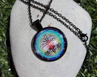 Necklace Cabochon tree & Color