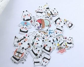 Cute Panda Stickers, Baby Panda Sticker Flakes, Scrapbooking Sticker