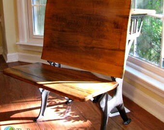 Beautiful Rustic School Desk Newly Restored