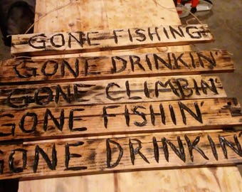 Chainsaw carved signs