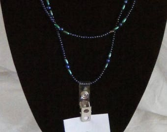 One of a kind beaded necklace/I.D. lanyard