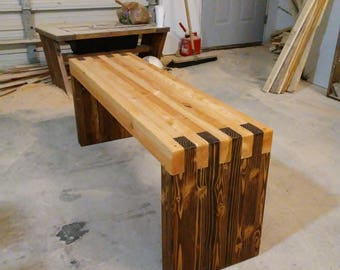Two toned bench