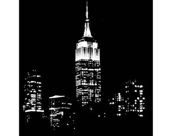Blank Note Card of Empire State Building Image 2105 438 372 T