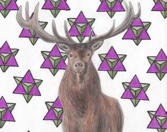 Elk with Merkaba