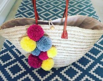 PomPom Beach Bag
