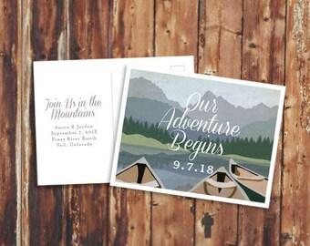 Mountain Wedding Save the Date - Digital File