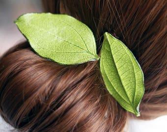 manual handmade leaf hairpin duckbill clip
