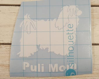 Puli Mom Vinyl Decal, Car window Decal