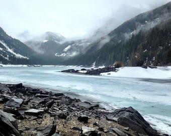 Mountain Lakes, Montana Landscape, Nature Photography