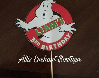 Ghostbuster Cake Topper, Cupcake Topper, Cake Decorations, Ghostbuster Birthday Decorations