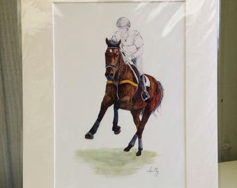 Galloping event horse -Print
