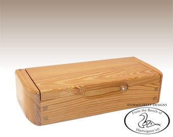 Antique Reclaimed Heart Pine Mini Chest/Desk Box, Made in Alaska, Ser.#SB2016-0806