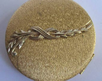 Vintage Costume Jewelry DuBarry Loud Silk Face Powder Ladies Unused Compact, Gold Tone FREE SHIPPING