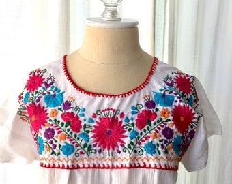 Embroidered Mexican blouse, embroidered top