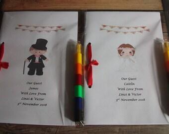 Childrens Wedding activity Booklets