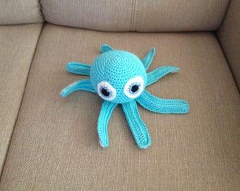Octopus, crochet, handmade, Amigurumi, stuffed animal, Häkeltier