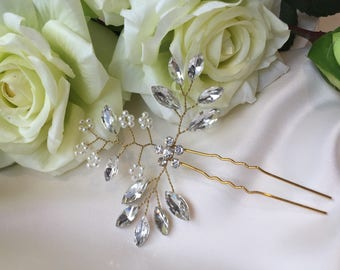 Vintage style hair pin, bridal hair jewellery, bridal hair pin, wedding hair pin
