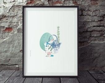 Digital Download, Easter Printable, Happy Easter, Spring Print, Hello Spring, Bunny Prints, Happy Easter Art, Spring Decor, Easter Gift