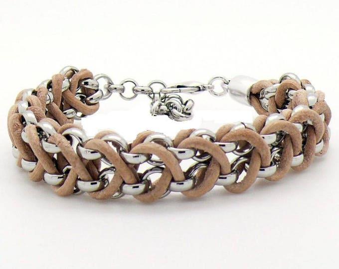 Free shipping within en bracelet bracelet leather jasserron braided dqmetaal ladies bracelet Men's Bracelet