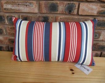 Handmade cushion - nautical stripe