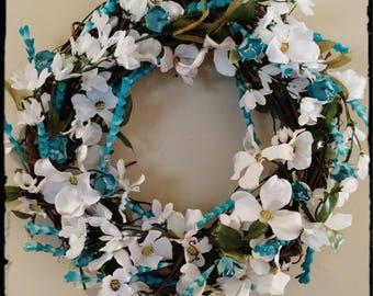 Aqua Summer Wreath