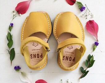 Yellow kids sandals