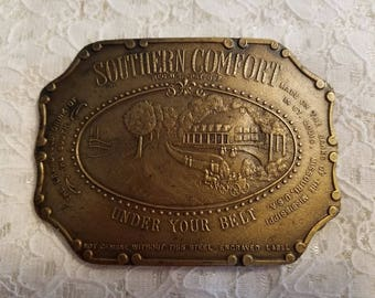 Southern Comfort Belt Buckle Vintage Copper
