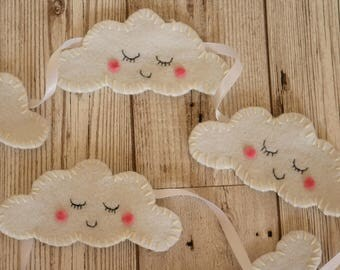 Cloud bunting, nursery decor