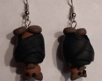 Hanging Bat Earrings