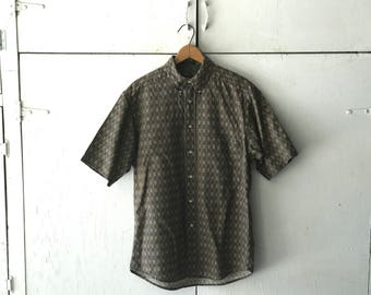 90s mens button down | short sleeve button down shirt| vintage mens shirt | 90s mens clothing