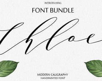 Font Bundle Digital font Brush Script Digital download swash font Handwritten font modern calligraphy font wedding font Cricut Swirly Font
