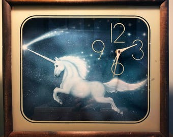 Retro Unicorn Clock