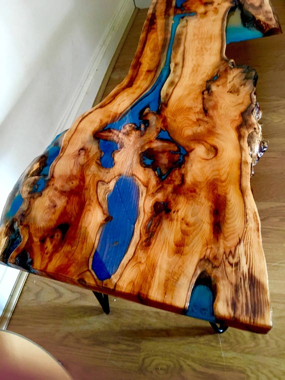 Sold Yew Live Edge Waney Character Epoxy Resin Coffee Table