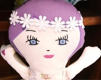 Doll Rag Doll Handmade Doll Soft Doll Textile Doll