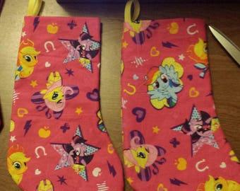 Custom made MINI-Christmas Stockings--My Little Pony
