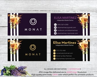 Monat Business Card, Custom Monat Business Card, Personalization Monat Card, Custom Monat Hair Care Card, Printable Business Card MN98