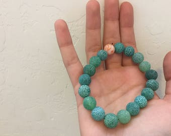 Green Speckled Bracelet