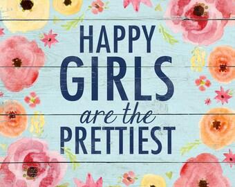 Happy Girl 12x12 PRINT