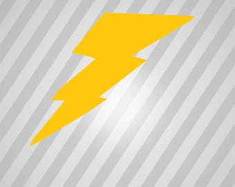 Lightning Bolt refixed - Svg Dxf Eps Silhouette Rld RDWorks Pdf Png AI Files Digital Cut Vector File Svg File Cricut Laser Cut