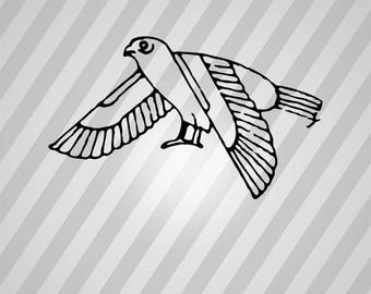 Egypt Bird Silhouette - Svg Dxf Eps Silhouette Rld RDWorks Pdf Png AI Files Digital Cut Vector File Svg File Cricut Laser Cut