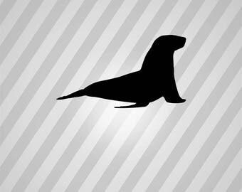 Sea Lion Silhouette Seal - Svg Dxf Eps Silhouette Rld RDWorks Pdf Png AI Files Digital Cut Vector File Svg File Cricut Laser Cut