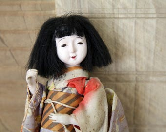 An I'M HOI Favorite! Japanese doll in kimono - Approx 1936  Extremely Unique