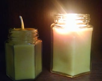 All Natural Beeswax Jar Candle