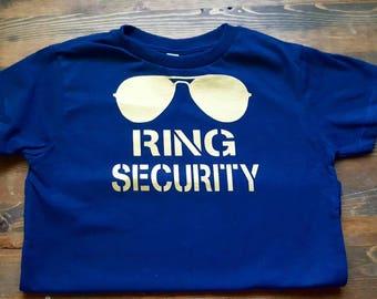 Ring Bearer Shirt - Ring Security Shirt - Wedding Rehearsal Shirt - Wedding Shirt Ring Bearer - Ring Bearer Gift - Ring Bearer Outfit Gold