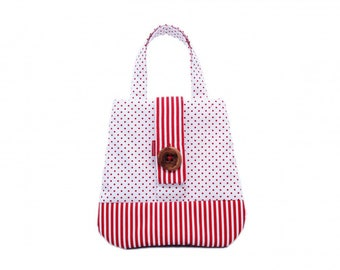 Claresque Handmade De Lujo lined Tote Bag with inside pocket & large Applewood Button