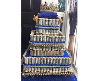 money cake - personalized gift for birthdays, anniversaries, Valentines Day