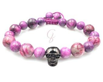 Cool purple skull bracelet